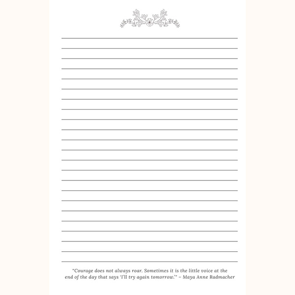 Grateful for Today Journal for Women Page Example
